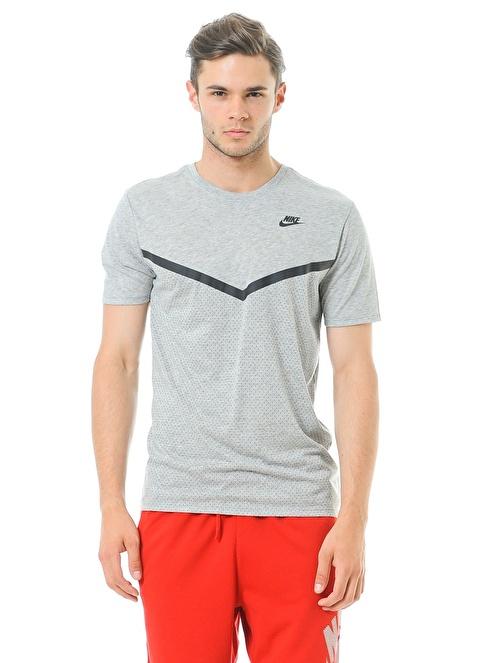 Nike Bisiklet Yaka Tişört Gri
